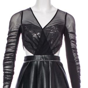New Size 2 - Three Floor Leather Mini Dress.